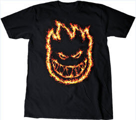 Spitfire S/S Charred Remains - Black - Men's T-Shirt