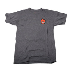 Spitfire Lil Bighead - Charcoal Heather/Red - Men's T-Shirt