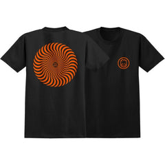 Spitfire Classic Swirl S/S - Black/Orange - Men's T-Shirt