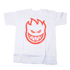 Spitfire Bighead S/S - White/Red - Men's T-Shirt
