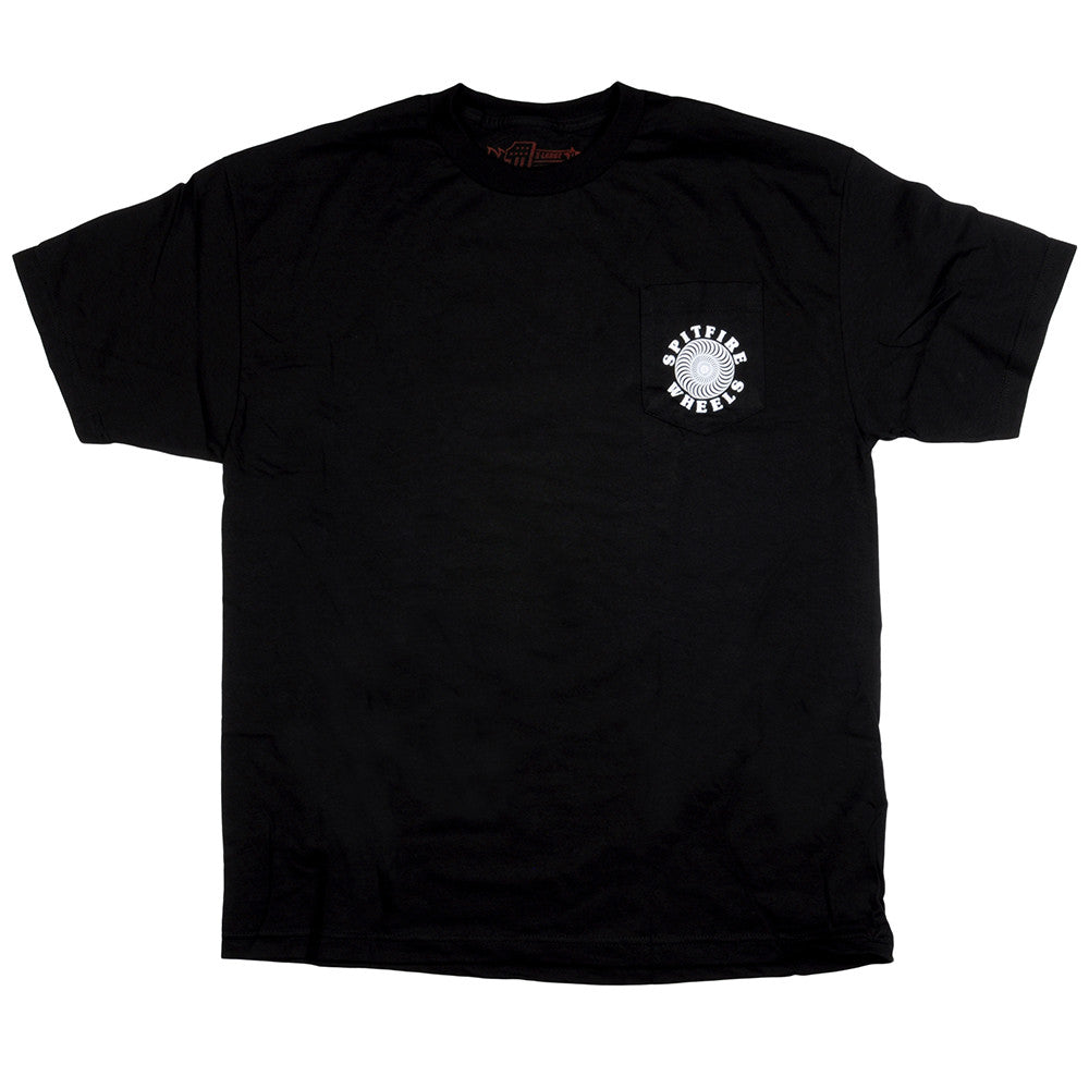 Spitfire Classic Pocket S/S - Black/White - Men's T-Shirt