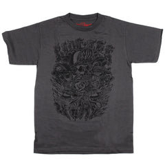 Spitfire Burnt S/S - Charcoal/Black - Men's T-Shirt