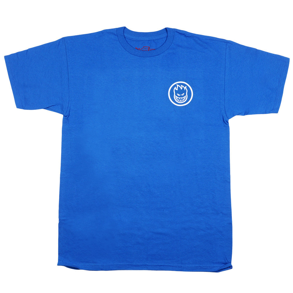 Spitfire Classic Swirl S/S - Royal Blue/White - Men's T-Shirt