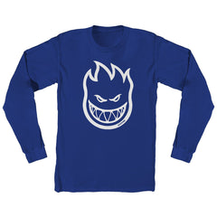 Spitfire Bighead L/S - Royal/White - Men's T-Shirt