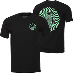 Spitfire Classic Swirl S/S - Black/Green - Men's T-Shirt