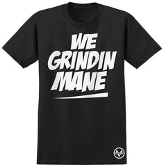 Venture We Grindin Mane S/S - Black - Men's T-Shirt