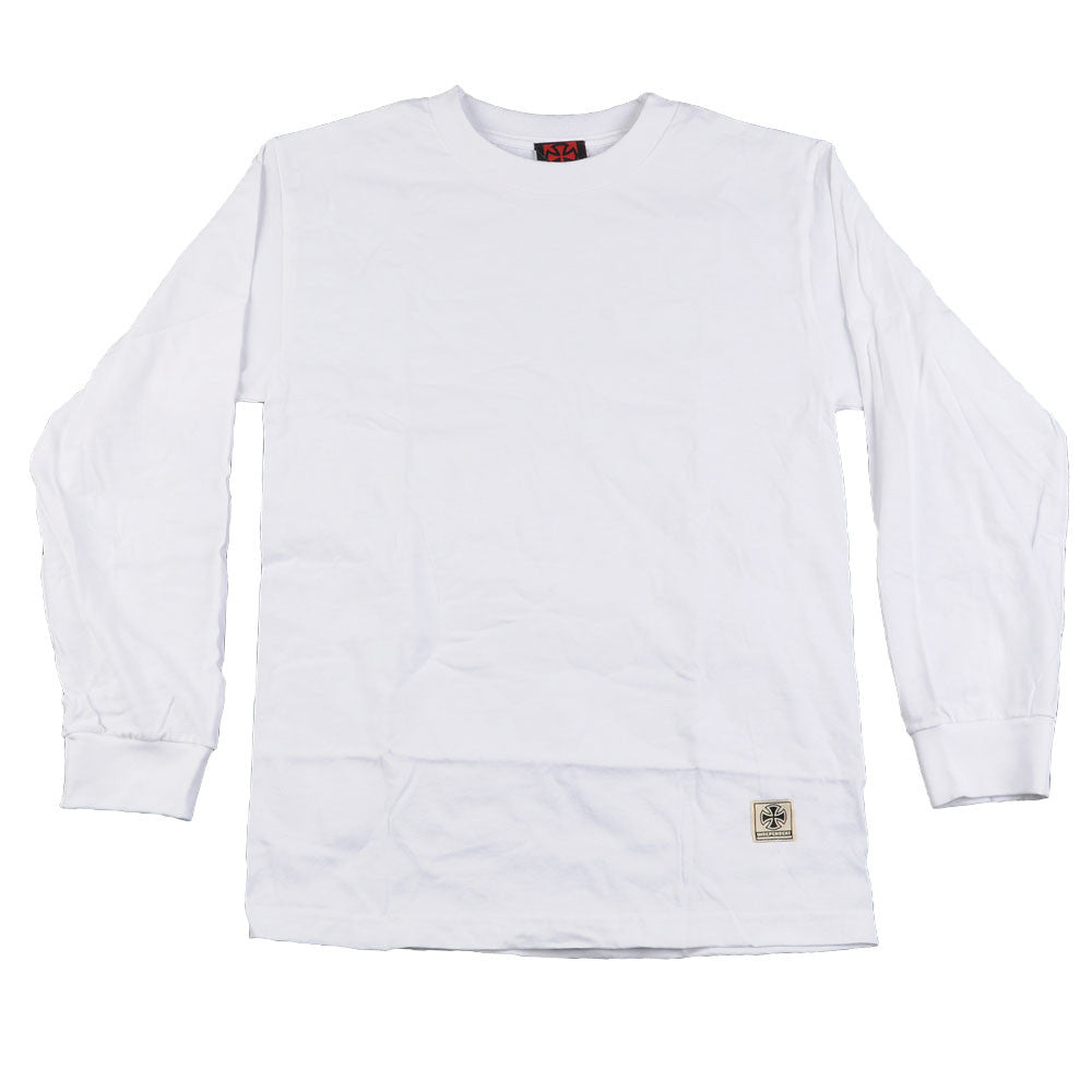 Independent No BS Regular L/S - White - Men's T-Shirt