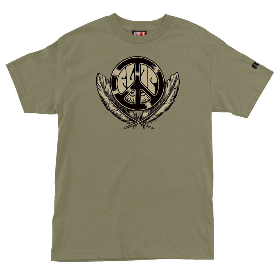 Flip Dream Peace Regular S/S - Sage - Men's T-Shirt