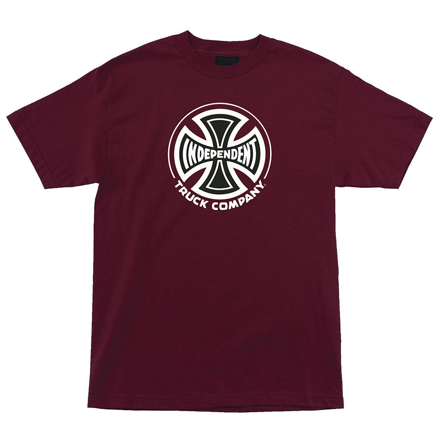 Independent Truck Co Regular S/S - Burgundy - Mens T-Shirt