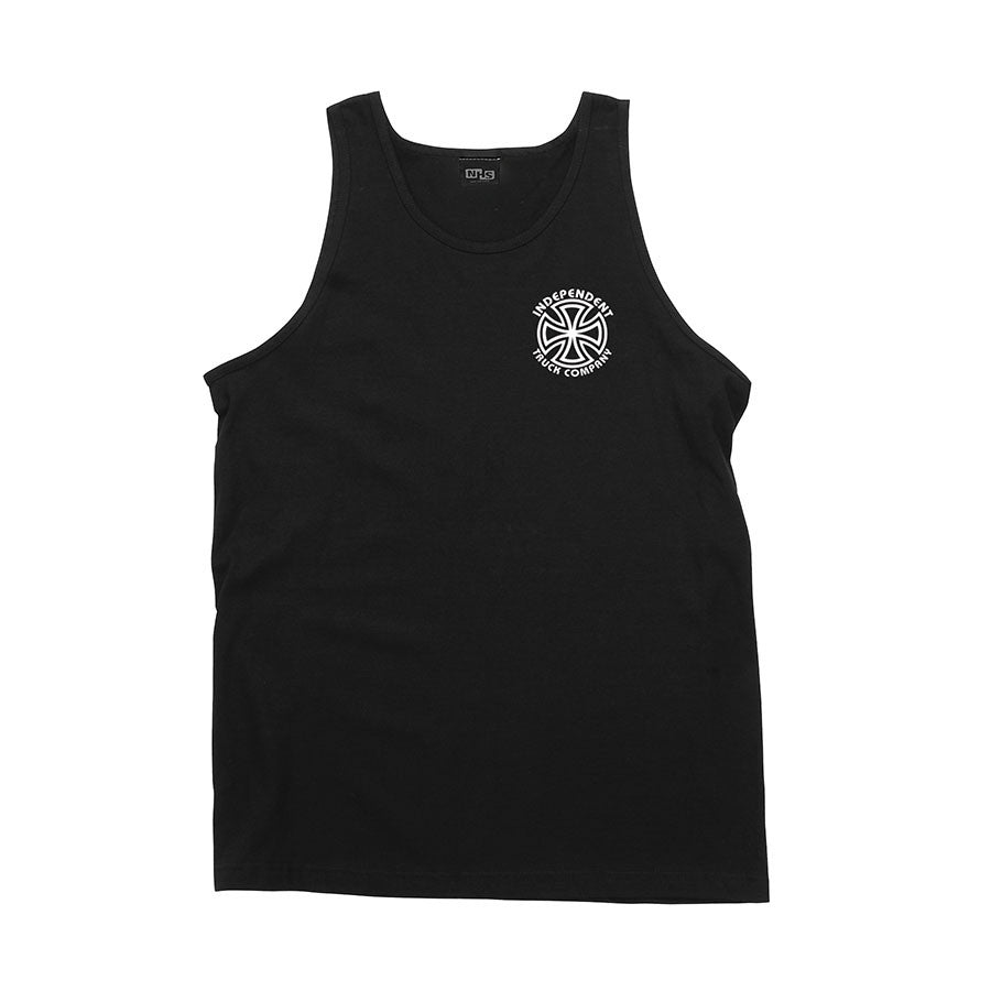 Independent Bauhaus Cross Regular Fit Tank Top - Black - Mens T-Shirt