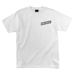 Independent Pin Lined Cross Regular S/S - White - Men's T-Shirt