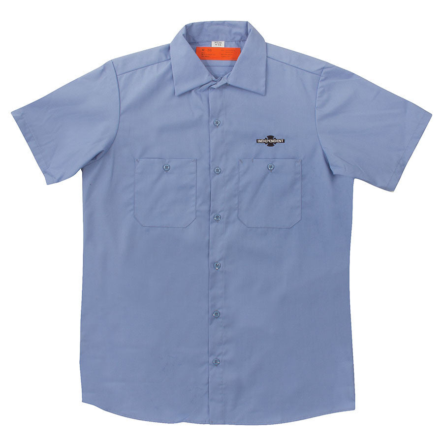 Independent Daily Grind Workshirt S/S - Blue - Men's T-Shirt