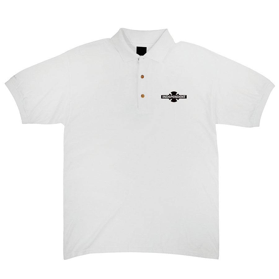 Independent O.G.B.C. Chest Polo S/S - White - Men's T-Shirt