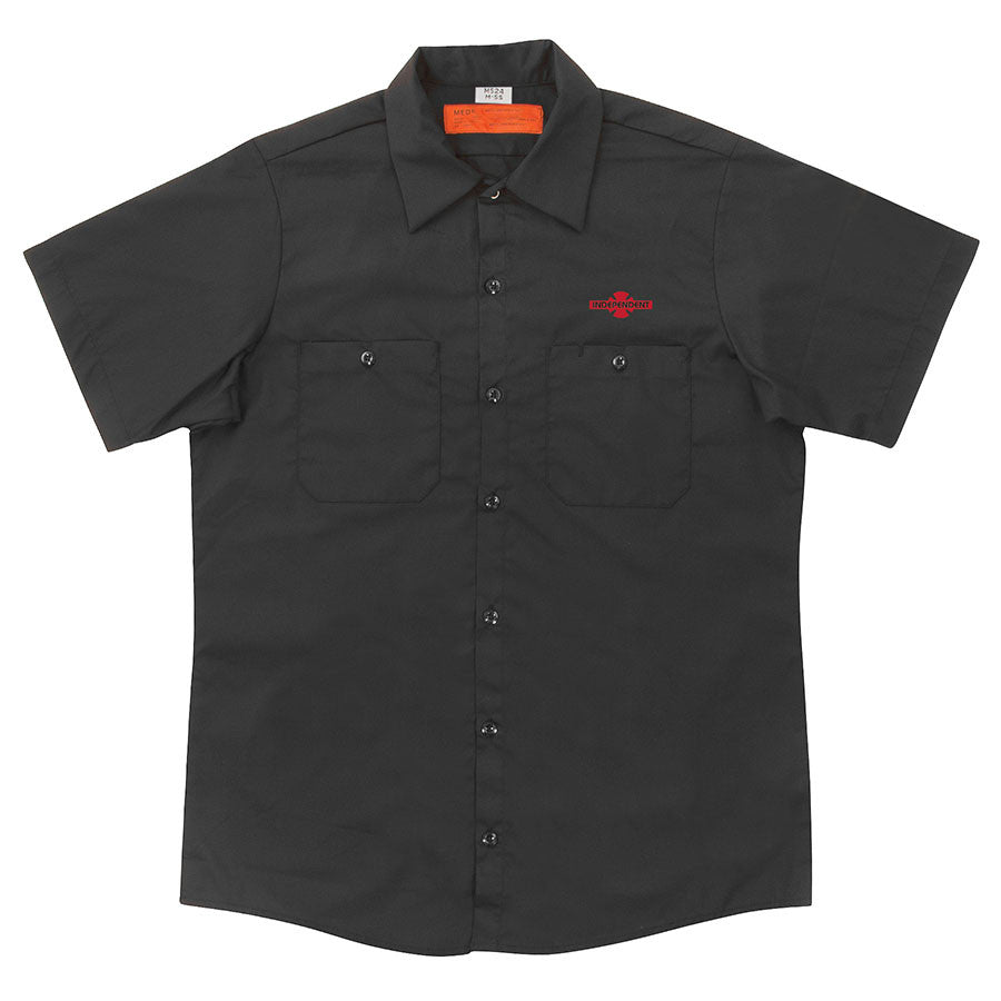 Independent Daily Grind Workshirt S/S - Black - Men's T-Shirt