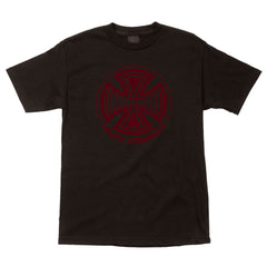 Independent Fade Cross Regular S/S - Black - Men's T-Shirt