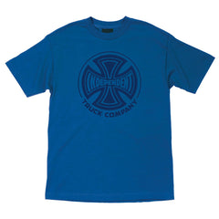 Independent Fade Cross Regular S/S - Royal Blue - Men's T-Shirt