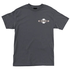Independent Familiar Regular S/S - Charcoal - Men's T-Shirt