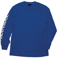 Independent Bar/Cross Regular L/S - Royal Blue - Men's T-Shirt