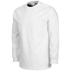 Independent Bar/Cross Regular L/S - White - Men's T-Shirt