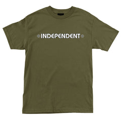 Independent Bar/Cross Regular S/S - Military Green - Men's T-Shirt