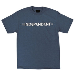 Independent Bar/Cross Regular S/S - Navy Heather - Men's T-Shirt