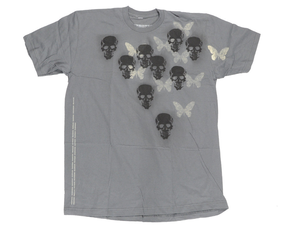 Destructo Skull Butterfly - Men's T-Shirt - Grey