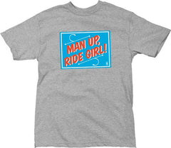 Girl Man Up - Grey/Blue - Men's T-Shirt