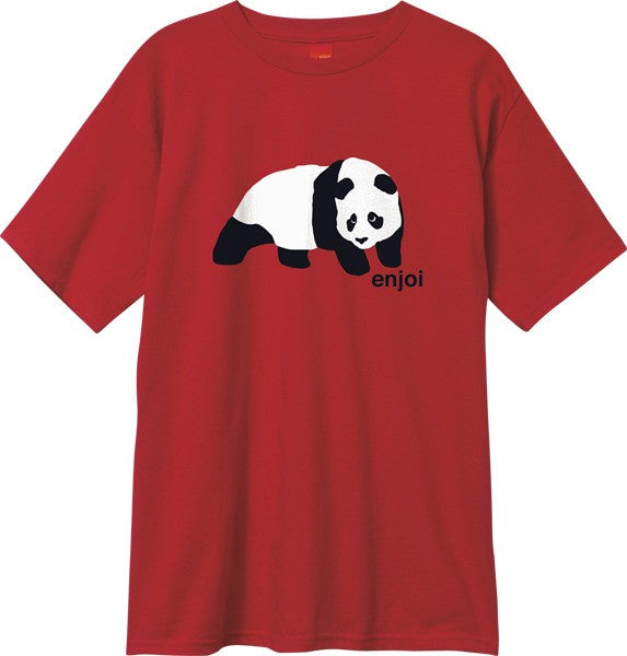 Enjoi Original Panda S/S - Cardinal Red - Men's T-Shirt
