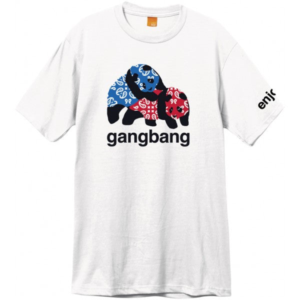 Enjoi Gangbang S/S - White - Men's T-Shirt