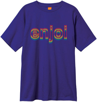 Enjoi Outline S/S - Purple - Men's T-Shirt