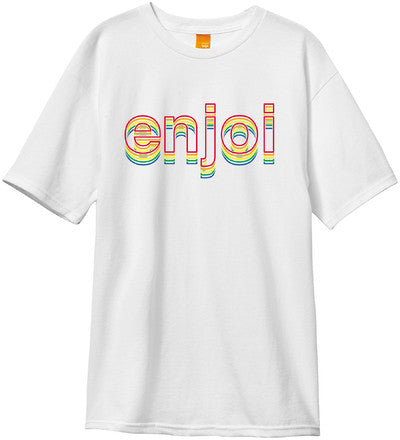 Enjoi Outline S/S - White - Men's T-Shirt