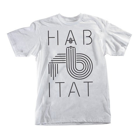 Habitat Low Fi S/S - White - Men's T-Shirt