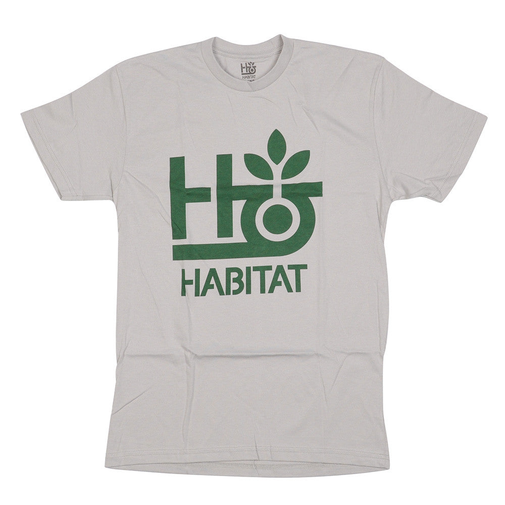 Habitat Pod Logo Short Sleeve - Silver - Men's Shirt