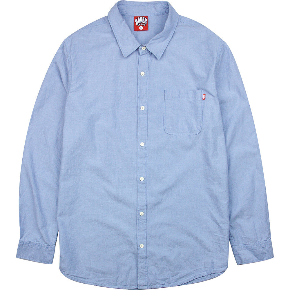 Baker Crosby Oxford Button Up - Blue - Men's T-Shirt