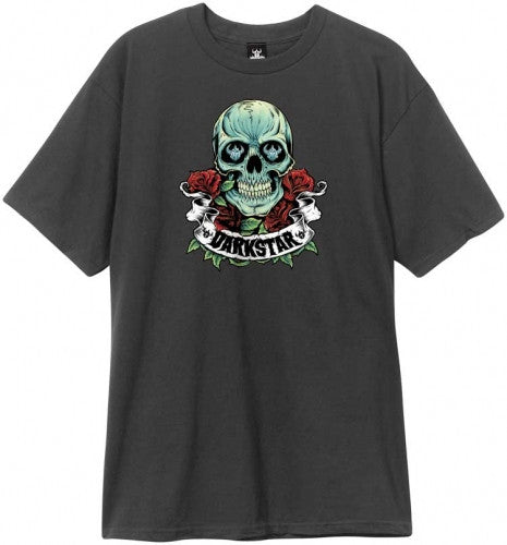 Darkstar Skull Roses S/S - Black - Men's T-Shirt