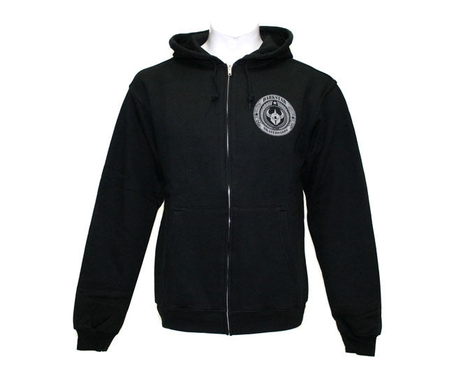 Darkstar Revolt Zip Up Hoodie - Black - Sweatshirt