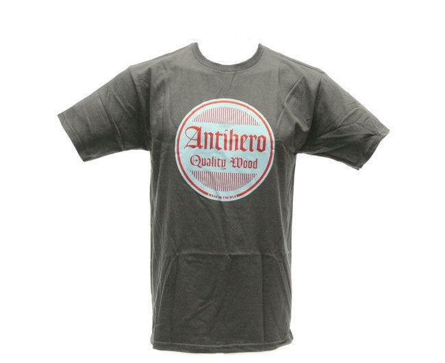 Anti-Hero Quality Circle S/S - Charcoal - Men's T-Shirt