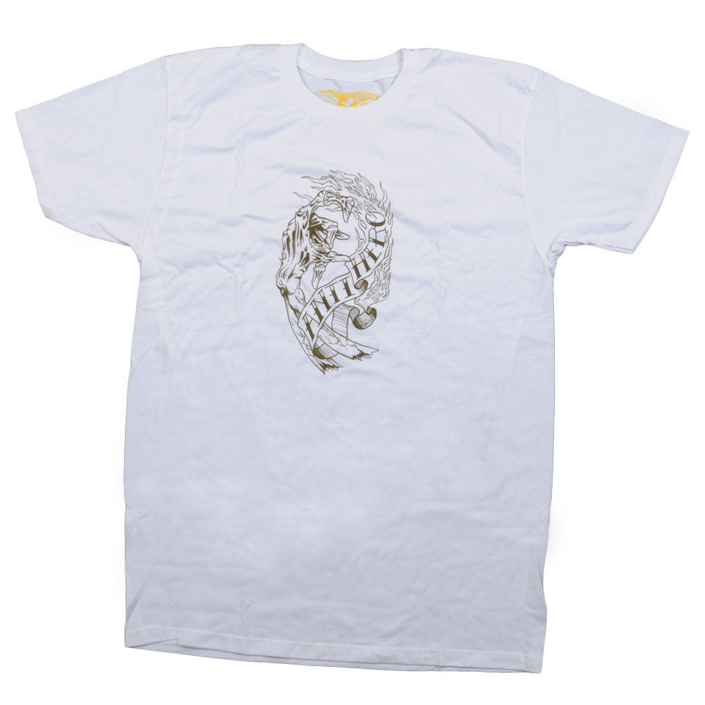 Anti-Hero Fingered Slim Fit S/S - White - Men's T-Shirt