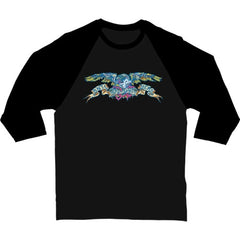 Anti-Hero Eagle Dead 3/4 Sleeve - Black/Black - Men's T-Shirt