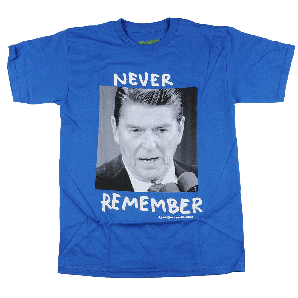 Anti-Hero Never Remember S/S - Royal - Men's T-Shirt