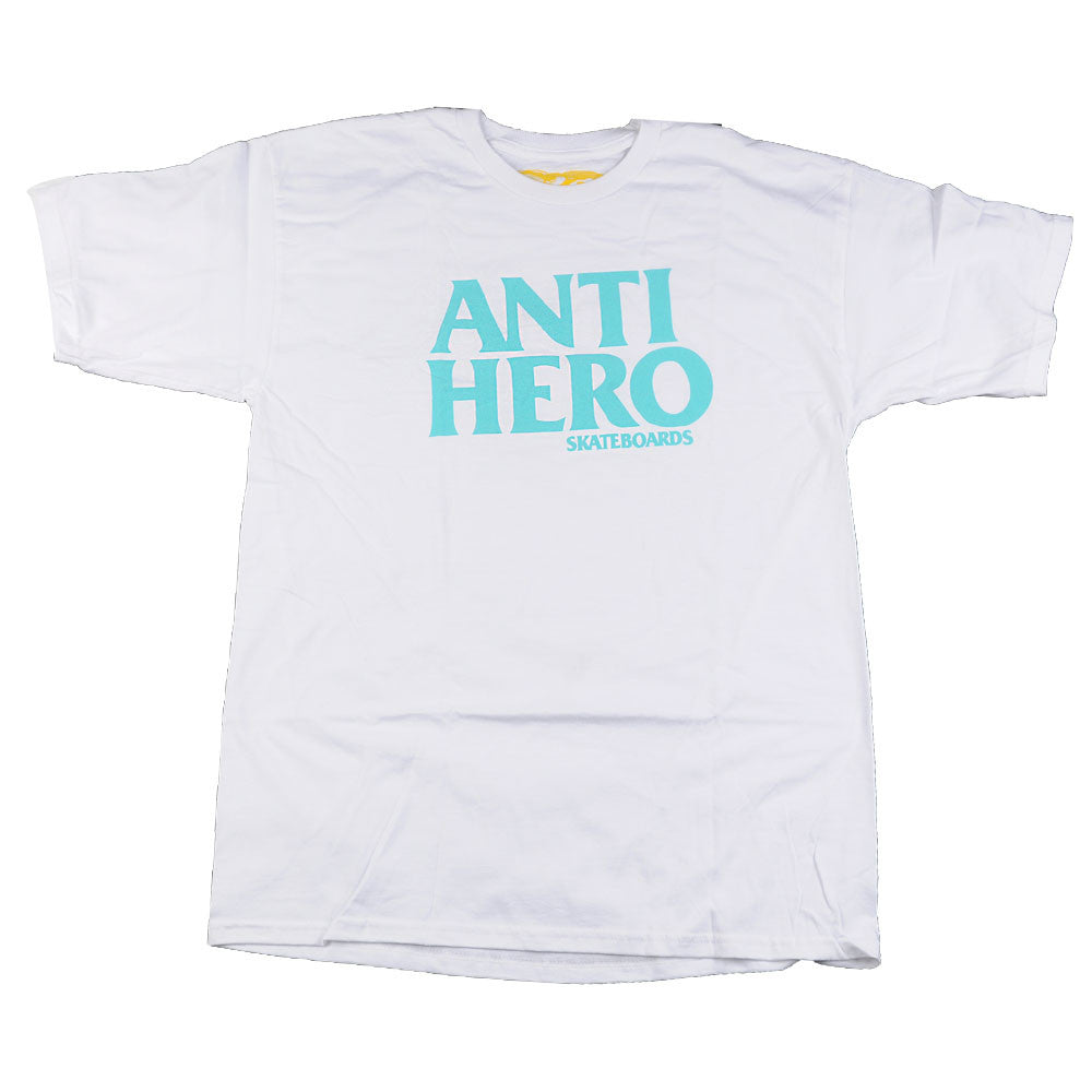 Anti-Hero Black Hero S/S - White/Teal - Men's T-Shirt
