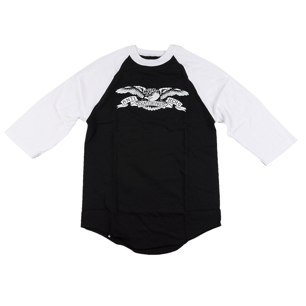 Anti-Hero White Eagle 3/4 Sleeve - Black/White - Men's T-Shirt
