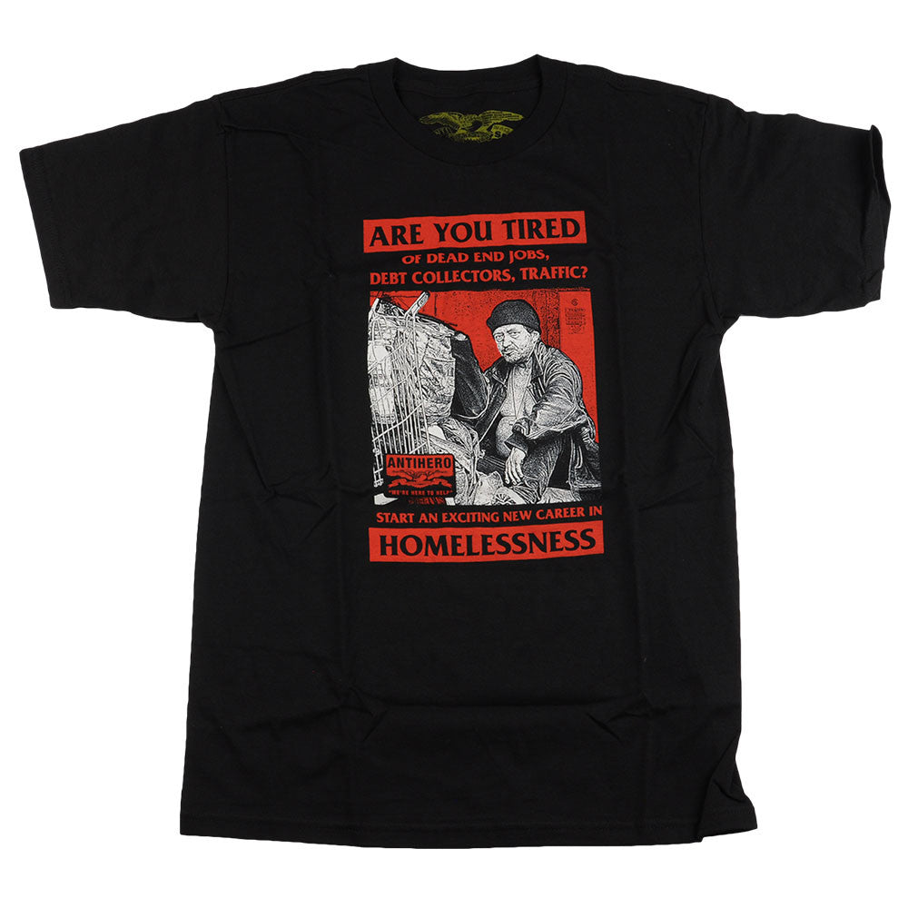 Anti-Hero Homeless S/S - Black - Men's T-Shirt