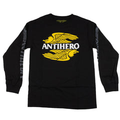 Anti-Hero AHXR L/S With Print - Black/Tonal - Men's T-Shirt