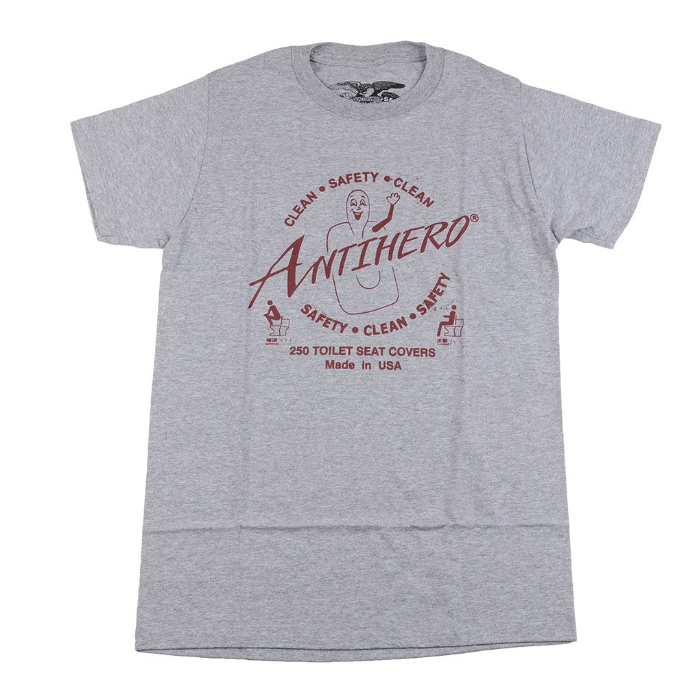 Anti-Hero Clean Safety Premium S/S - Heather/Grey - Men's T-Shirt