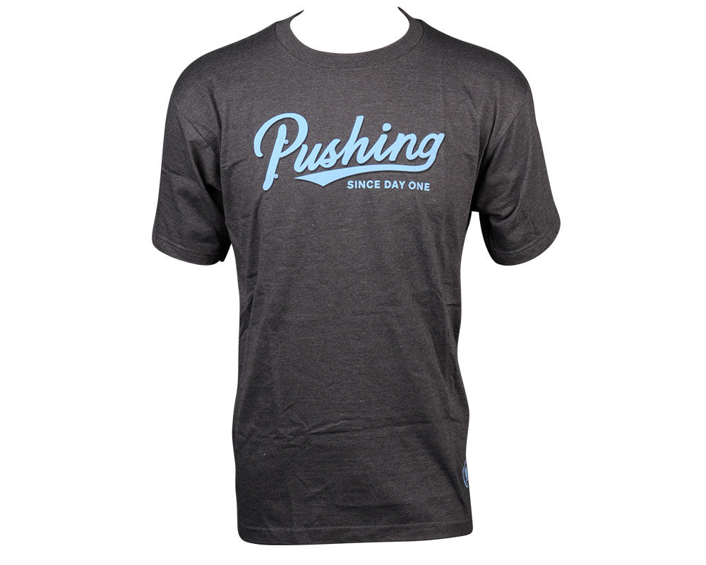 Real Pushing Script S/S - Charcoal Heather - Men's T-Shirt