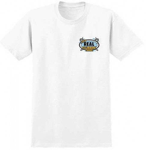 Real Clubbin' Time UV Activated Premium S/S - White - Men's T-Shirt