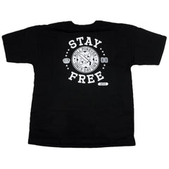Real Stay Free S/S - Black - Men's T-Shirt