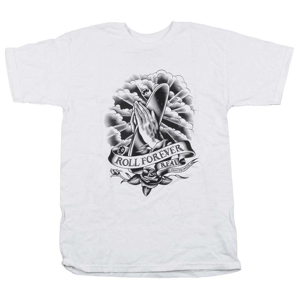 Real Almighty S/S - White/Black - Men's T-Shirt