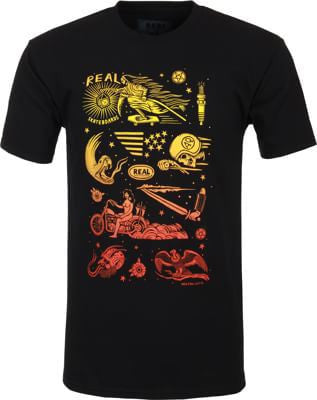 Real Real x Denton Watts S/S- Black - Men's T-Shirt